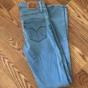 Levi's jeans w24 l30 high rise super skinny